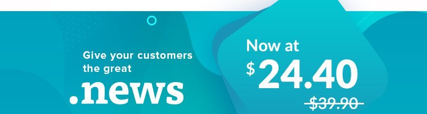 Get Your .News Domain Extension with Promo Prices